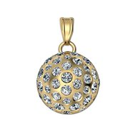 Golf Ball Sphere Medal with Studded Diamonds