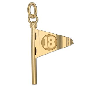 18th Hole Flag Golf Jewelry Charm or Pendant