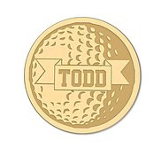 Golf Ball with Name Ball Marker