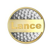 Personalized Two Tone Golf Ball Marker with Name