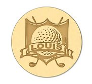 Golf Crest with Name Ball Marker