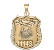 Personalized Philadelphia Police Badge w  Your Number