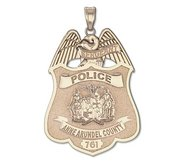 Personalized Maryland Police Badge w  Your Rank  Number   Department