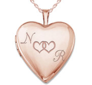 Rose Gold Plated   Together Forever  Heart Photo Locket