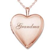 Rose Gold Plated  Grandma  Locket