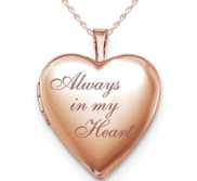 Rose Gold Plated   Always In My Heart   Heart Locket