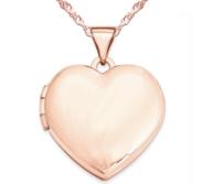 14k Rose Gold Heart High Polished Locket