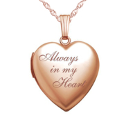 14k Rose Gold  Always In My Heart  Heart Locket