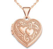 14k Rose Gold Double Heart Locket