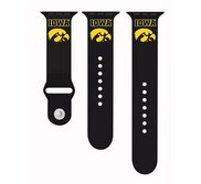 Iowa Hawkeyes Black Sport Watch Band   Fits The Apple Watch