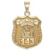 Police Husband Personalized Police Badge with Your Number