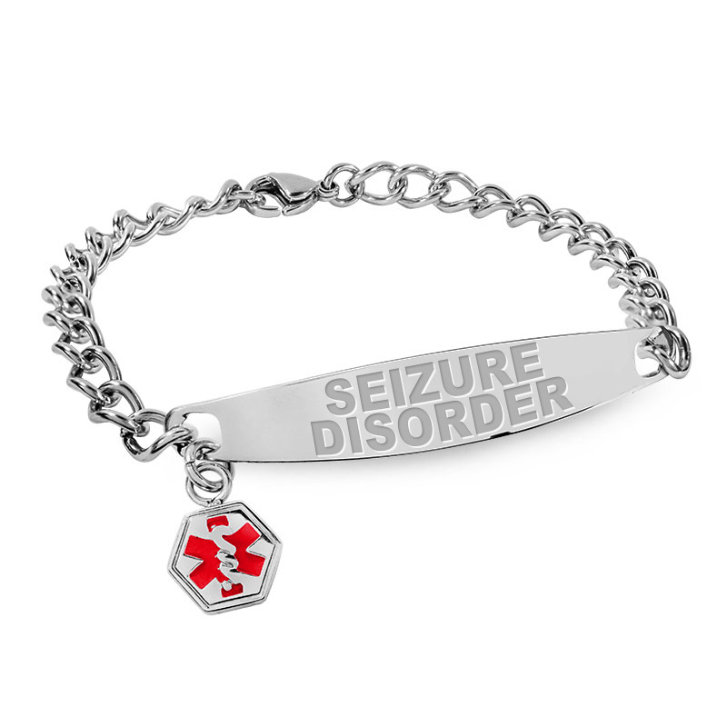Seizure Disorder Medical Id Bracelet