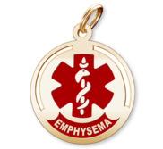 Round Medical  Emphysema  Pendant or Charm