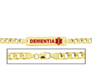 Women s Curb Link  Dementia  Medical ID Bracelet
