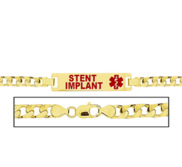 Women s Curb Link  Stent Implant  Medical ID Bracelet