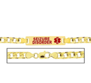 Men s Curb Link  Seizure Disorder  Medical ID Bracelet