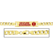 Women s Curb Link  Seizure Disorder  Medical ID Bracelet