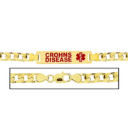 Men s Crohns Disease Curb Link Medical ID Bracelet