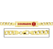 Women s Coumadin Curb Link Medical ID Bracelet