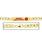 Men s Curb Link  Adrenal Insufficiency  Medical ID Bracelet