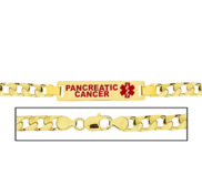 Men s Pancreatic Cancer Curb Link Medical ID Bracelet