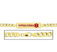 Women s Curb Link  Hypoglycemia  Medical ID Bracelet