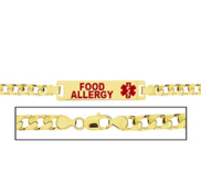 Women s Food Allergies Curb Link  Medical ID Bracelet