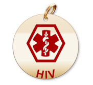 Medical Round HIV Charm or Pendant