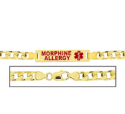 Men s Morphine Allergy Curb Link Medical ID Bracelet
