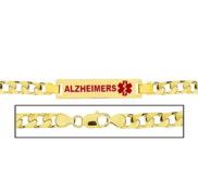 Men s Curb Link  Alzheimer s  Medical ID Bracelet