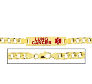 Men s Lung Cancer Curb Link Medical ID Bracelet