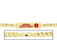 Women s Curb Link  Adrenal Insufficiency  Medical ID Bracelet