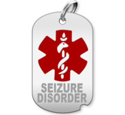 Dog Tag Seizure Disorder Charm or Pendant