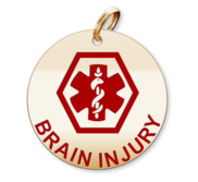 Medical Round Brain Injury Charm or Pendant