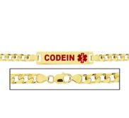 Women s Curb Link  Codeine  Medical ID Bracelet