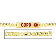 Women s COPD Curb Link  Medical ID Bracelet