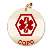 Medical Round COPD Charm or Pendant