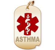 Dog Tag  Asthma  Medical Pendant
