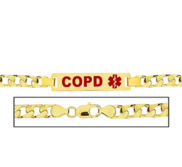 Men s COPD Curb Link Medical ID Bracelet