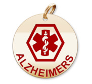 Medical Round Alzheimers Charm or Pendant