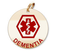 Medical Round Dementia Charm or Pendant