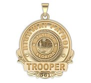 Personalized Florida State Highway Patrol Trooper Badge w  Name or Rank   Number