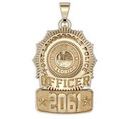 Personalized Florida Sun Ray Police Badge with Your Name  Rank  Number   Department