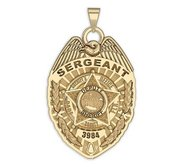 Personalized Dade County  Florida Sheriff Police Badge with Your Rank and Number