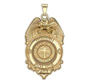 Personalized Miami  Florida Police Badge w  Your Rank and Number