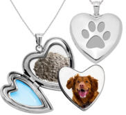 Dog Paw Print Cremation   Hair Photo Locket