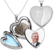 Holy Cross Cremation   Hair Photo Locket