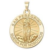 San Peregrino Round Religious Medal  EXCLUSIVE