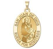San Juan de Dios Oval Religious Medal  EXCLUSIVE
