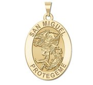 San Miguel OVAL Religious Medal   EXCLUSIVE